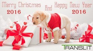 Merry Christmas and Happy New Year 2016 from TRANSLIT!