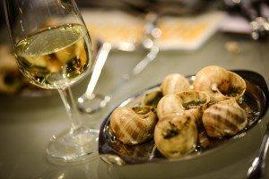 Escargots et vin