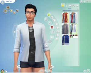 The player can for example choose between a huge amount of cloths its Sims can wear