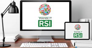 Computer Desk with Comptuter and Tablet running TRANSLIT RSI Platform